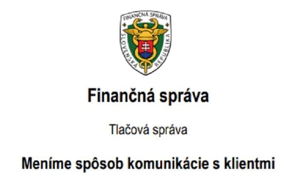 Finančná správa bude od 1. januára 2022 komunikovať s daňovými subjektami obojsmerne elektronicky cez Slovensko.sk